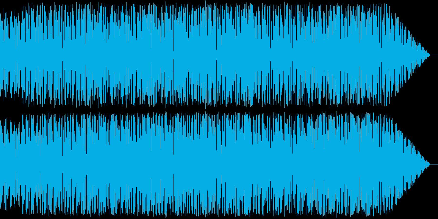 ピアノとギターを使ったドラムンベース風の再生済みの波形