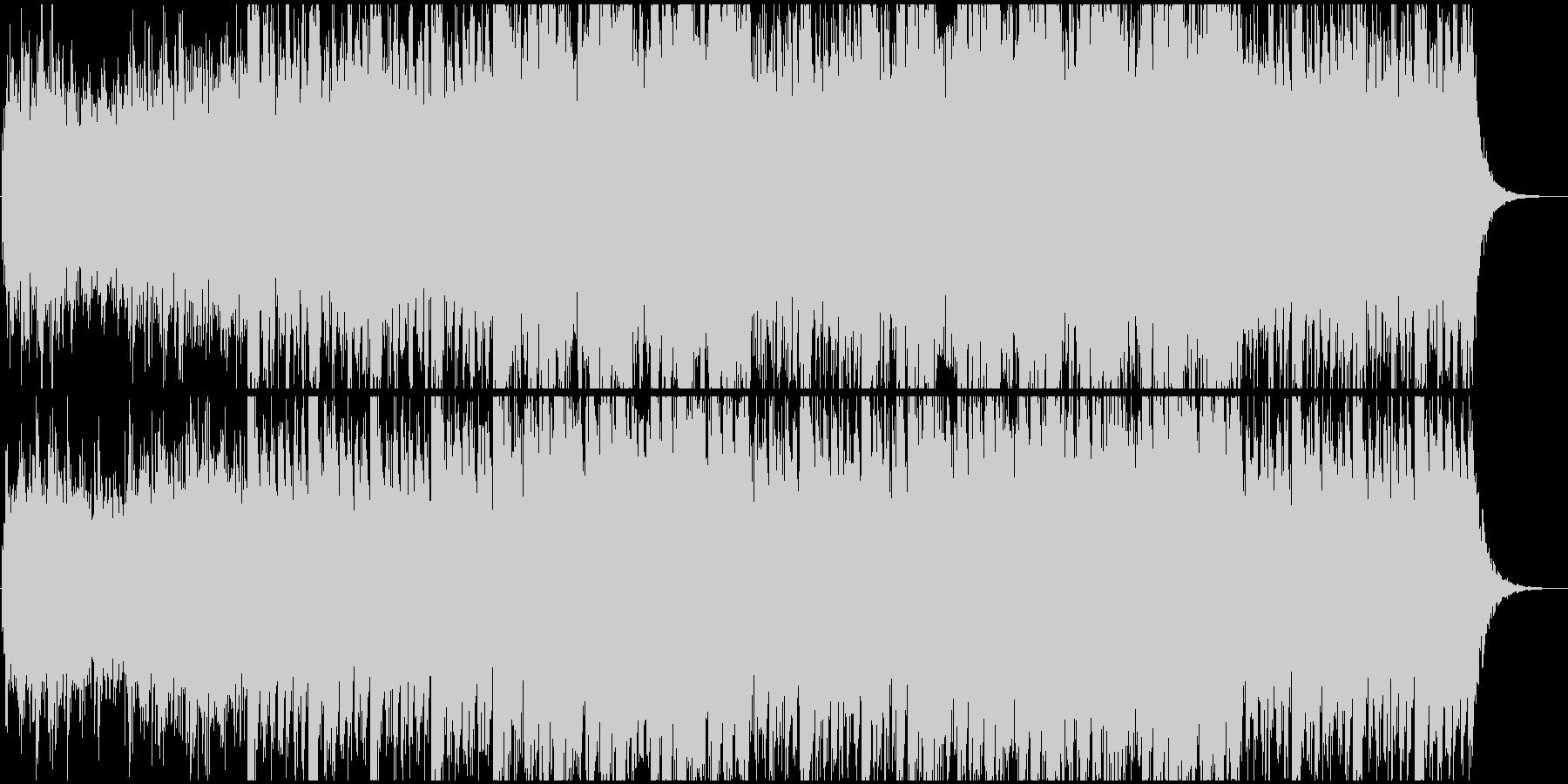 だんだん賑やかになるオープニング系EDMの未再生の波形