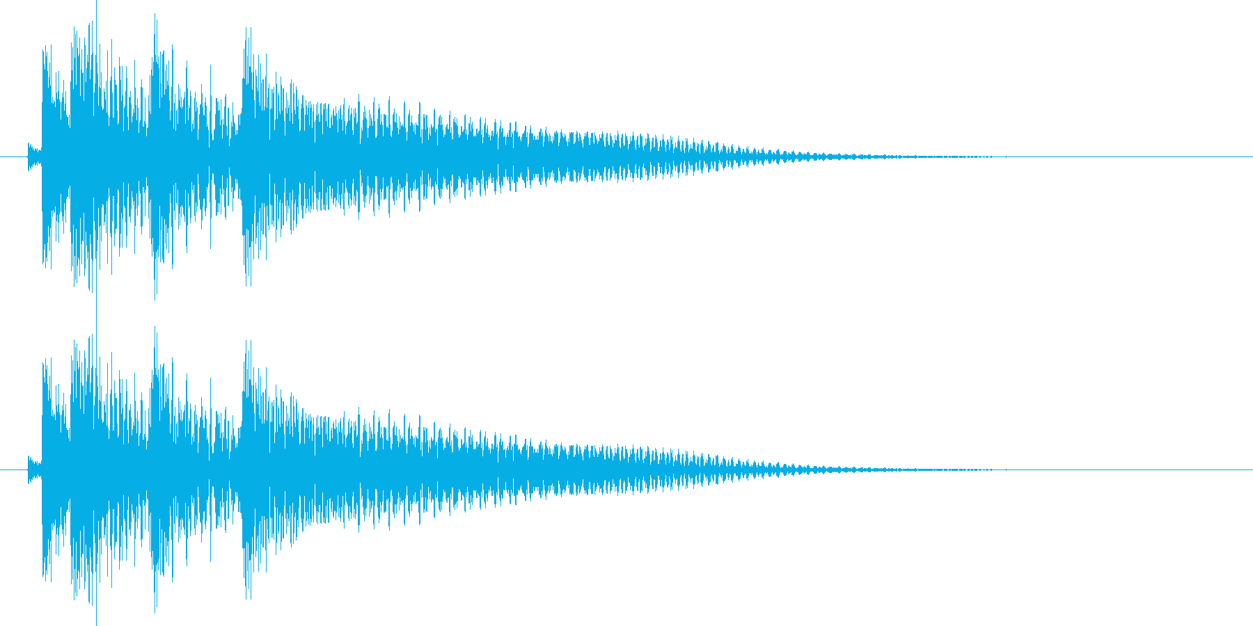 沖縄風エラー音1の再生済みの波形