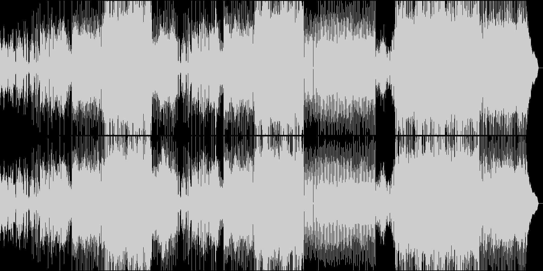 女性ボーカルの切なさと激しさを持つロックの未再生の波形