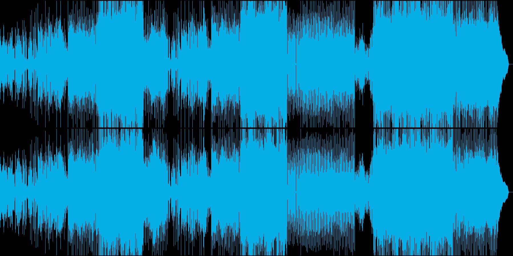 女性ボーカルの切なさと激しさを持つロックの再生済みの波形