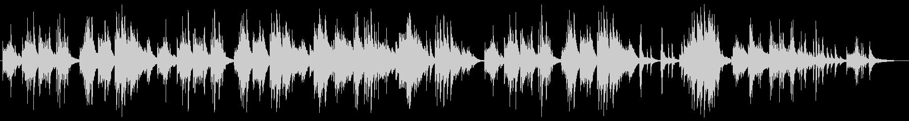 シンプルで心に響く切ないピアノバラードの未再生の波形