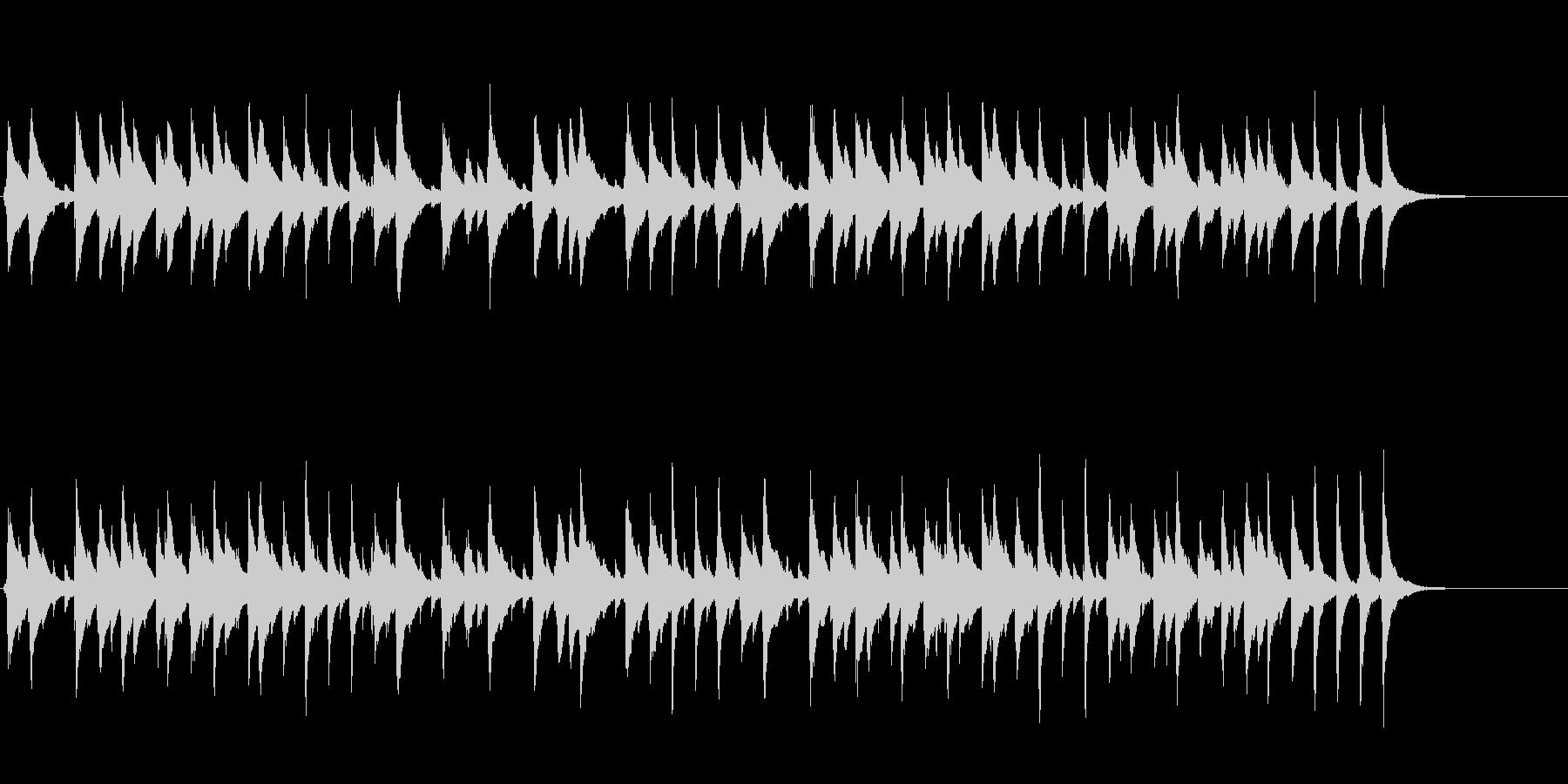 ウクレレとマリンバ使用子供向けの可愛い曲の未再生の波形