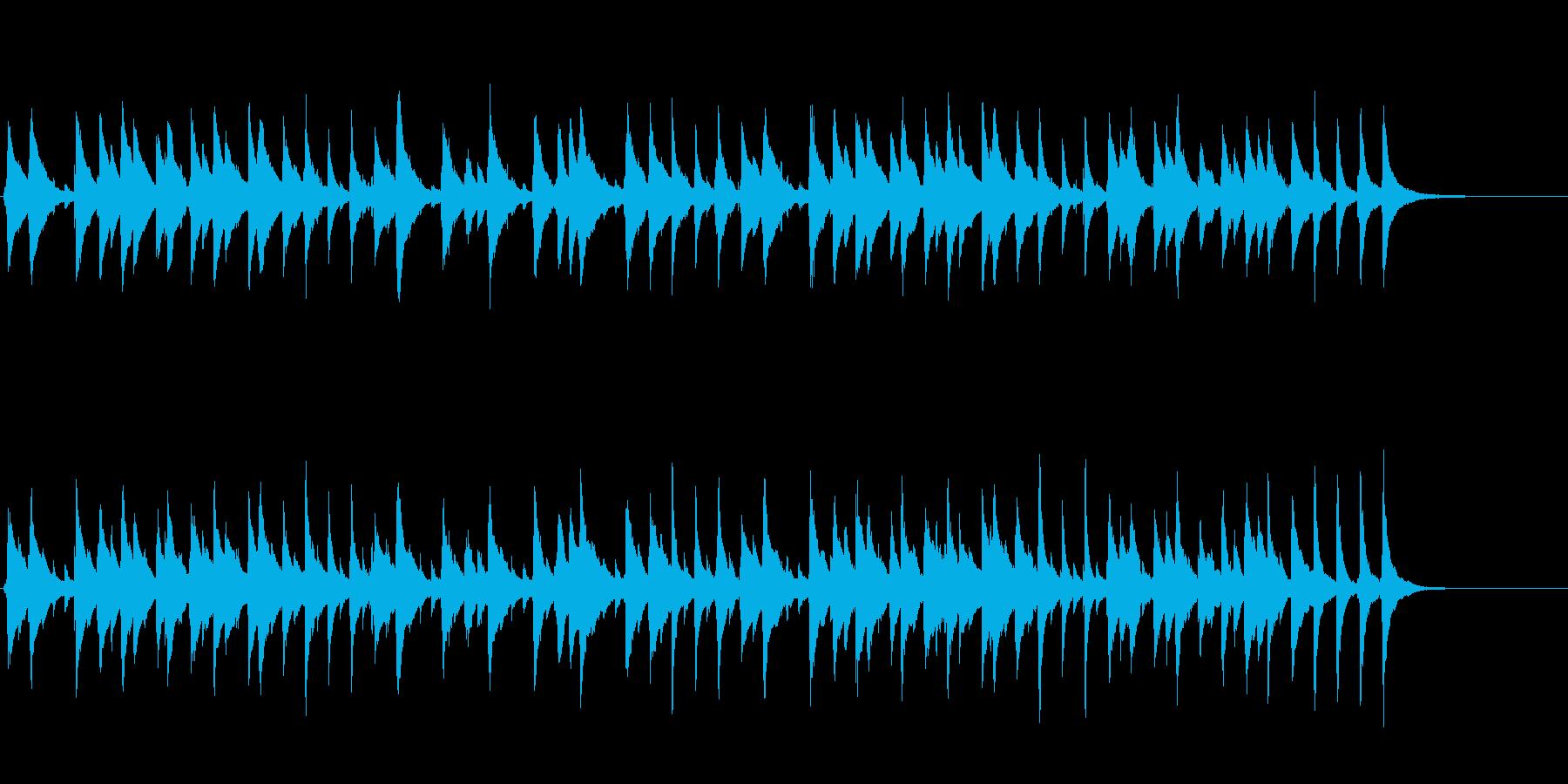 ウクレレとマリンバ使用子供向けの可愛い曲の再生済みの波形