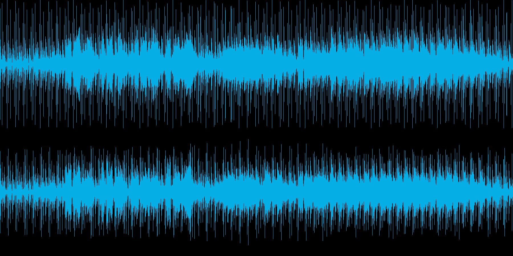 民族楽器を軸にゆったりとしたループ曲の再生済みの波形