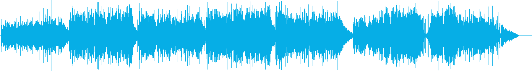 アコギと笛のゆったりとしたケルト風の曲の再生済みの波形
