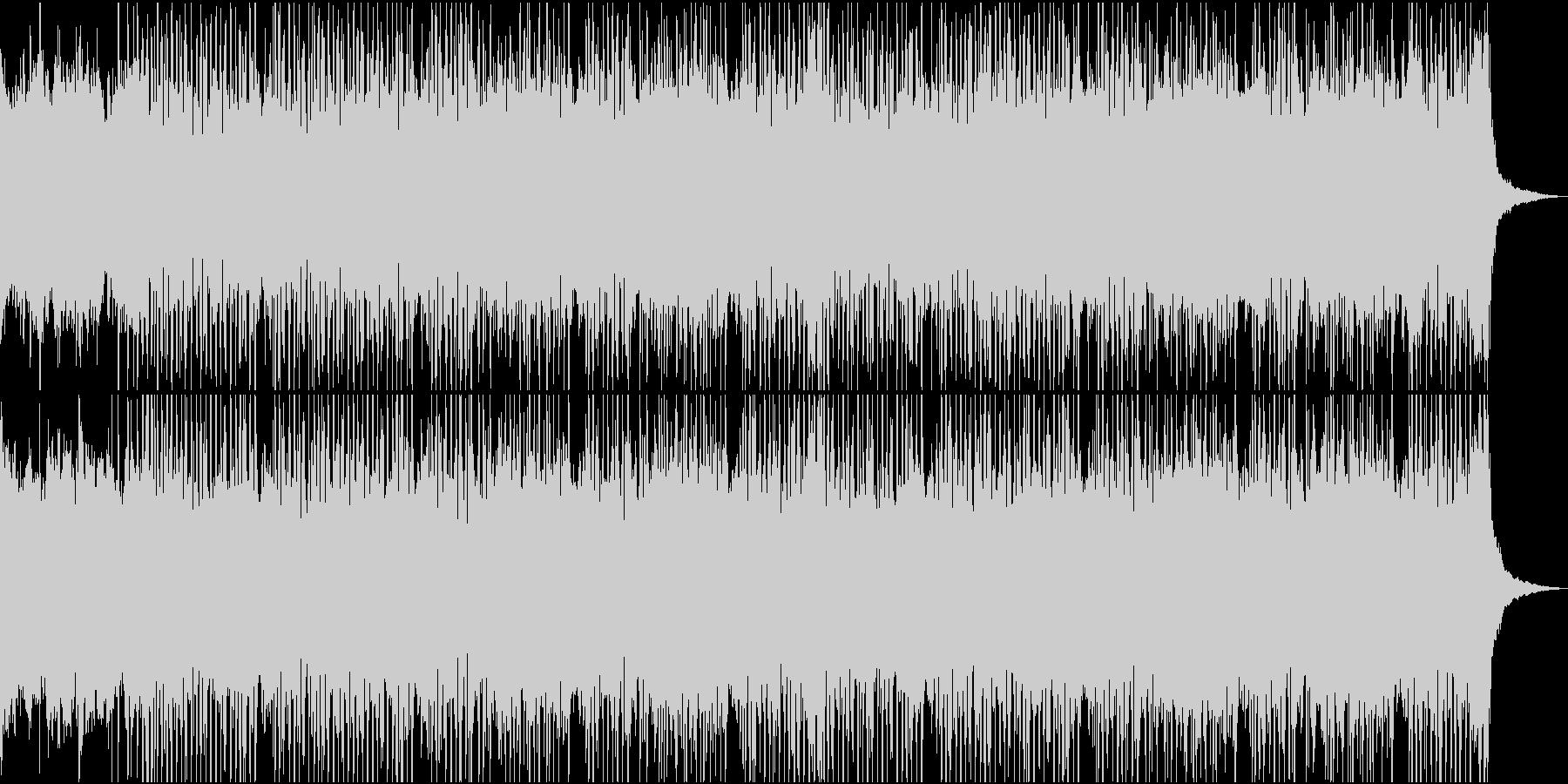 ピアノとシンセサイザーが爽やかなBGMの未再生の波形