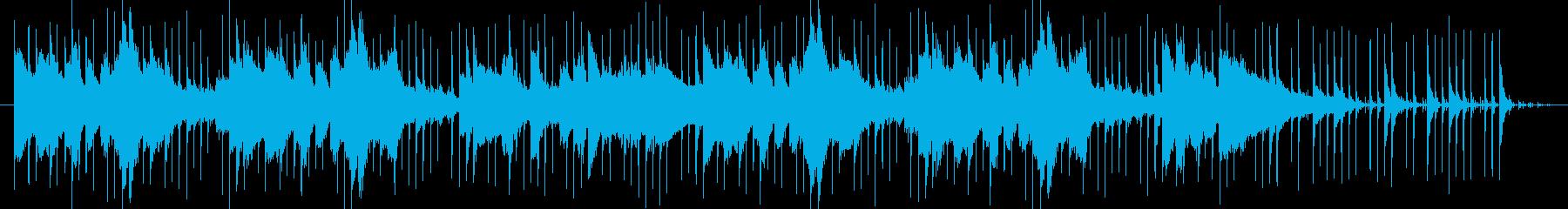 エスニック風の怪しいBGMの再生済みの波形