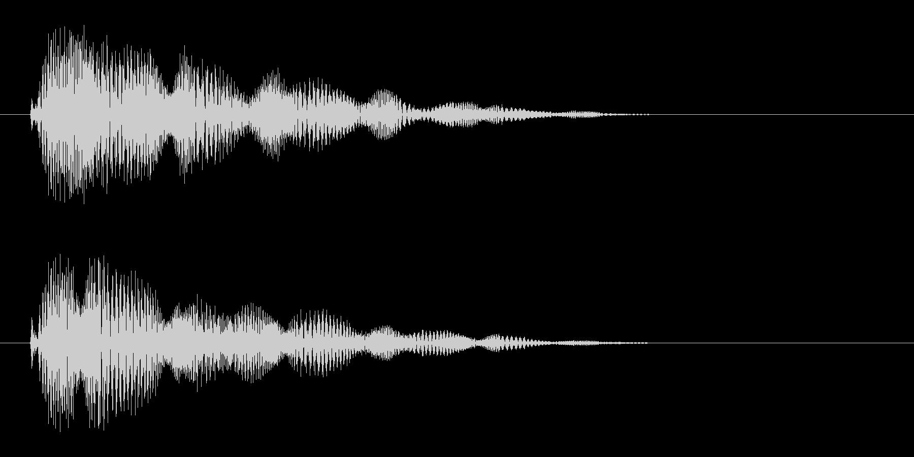 ピチョ〜(電子的音色)の未再生の波形