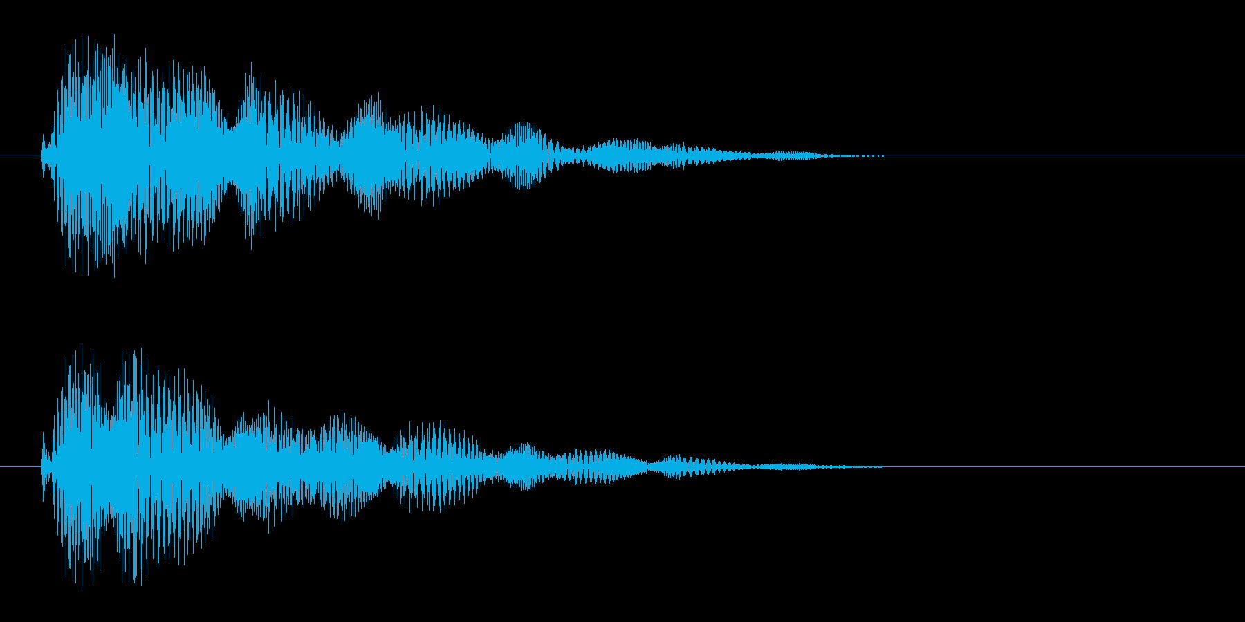 ピチョ〜(電子的音色)の再生済みの波形