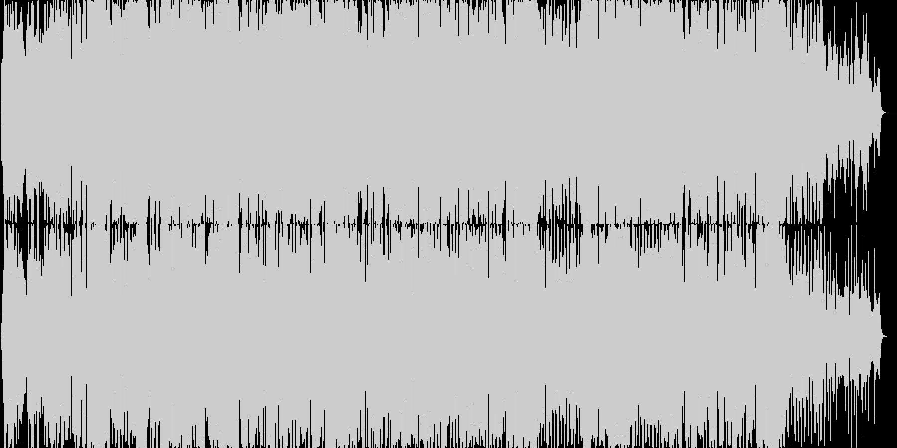 女性ボーカルの明るいダンスポップ曲の未再生の波形