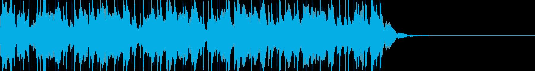おしゃれで感傷的なテックブレイクスの再生済みの波形