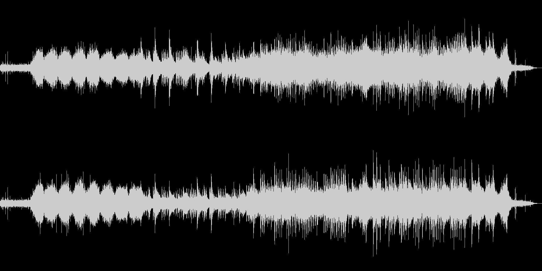 センチメンタルなピアノとグーチョンの未再生の波形
