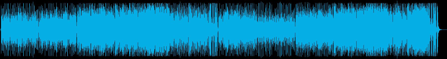 明るいジャズ風ポップスシンセサイザーの再生済みの波形