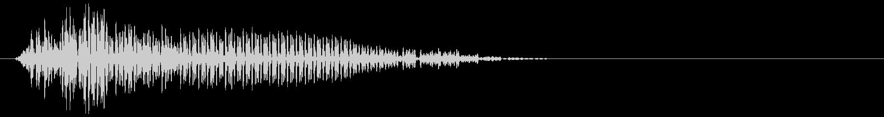 ゲーム掛け声ゾンビ1オー3の未再生の波形