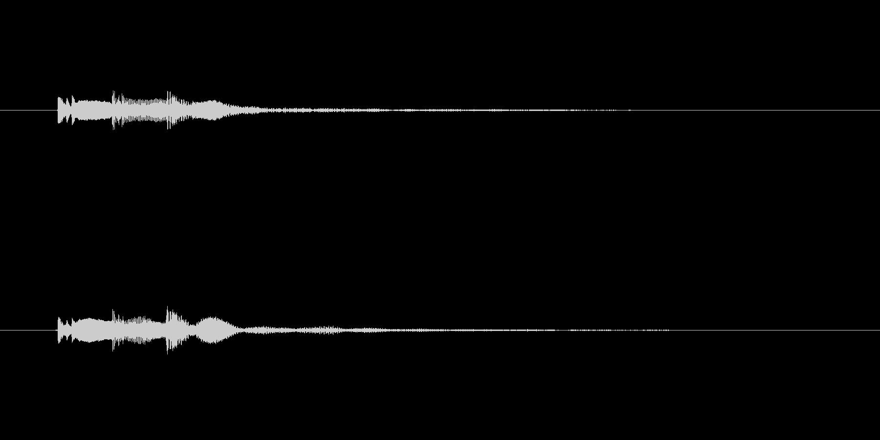 ボタン音ピロリッの未再生の波形