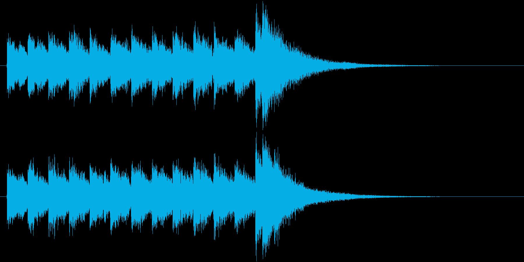 電車の発車・到着ジングル-03(8秒)の再生済みの波形