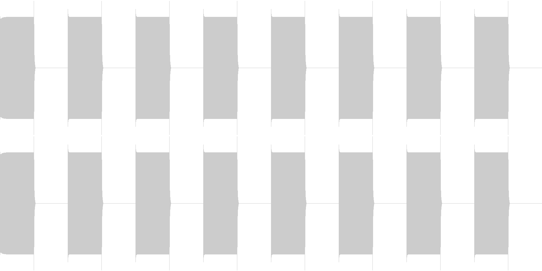 TEL 話し中のベル音 2 繋がらないの未再生の波形
