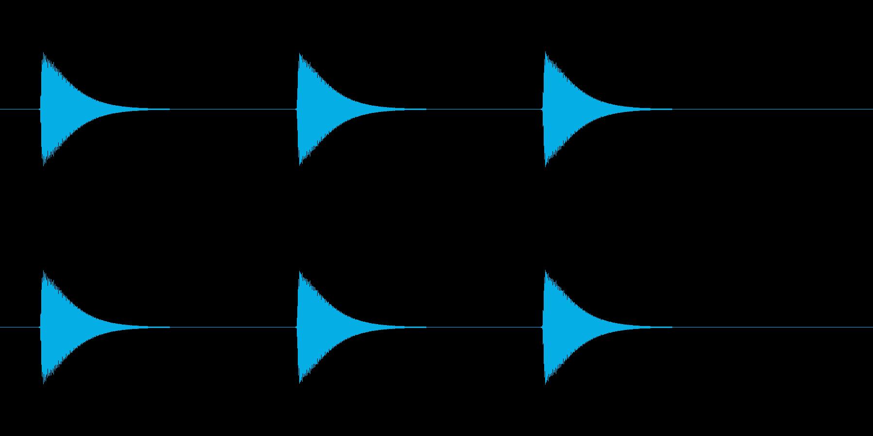 【ショートブリッジ13-1】の再生済みの波形