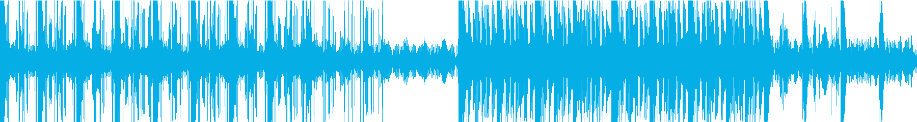 シリアスな雰囲気のBGMの再生済みの波形
