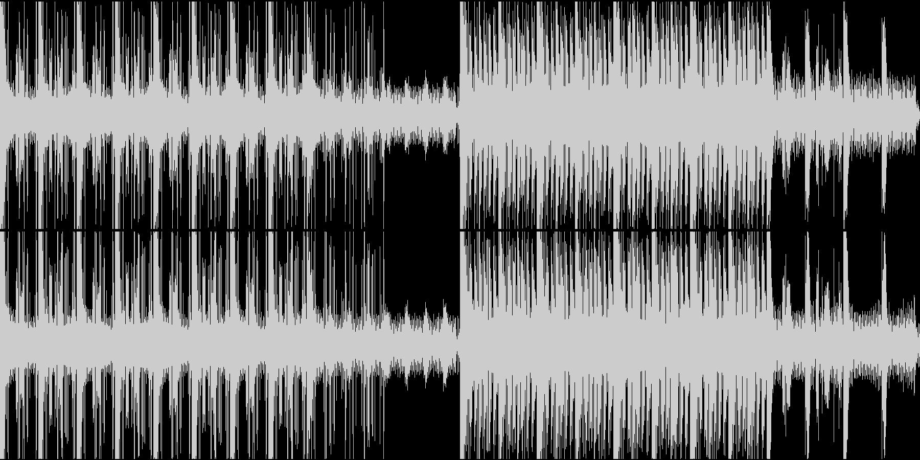 シリアスな雰囲気のBGMの未再生の波形