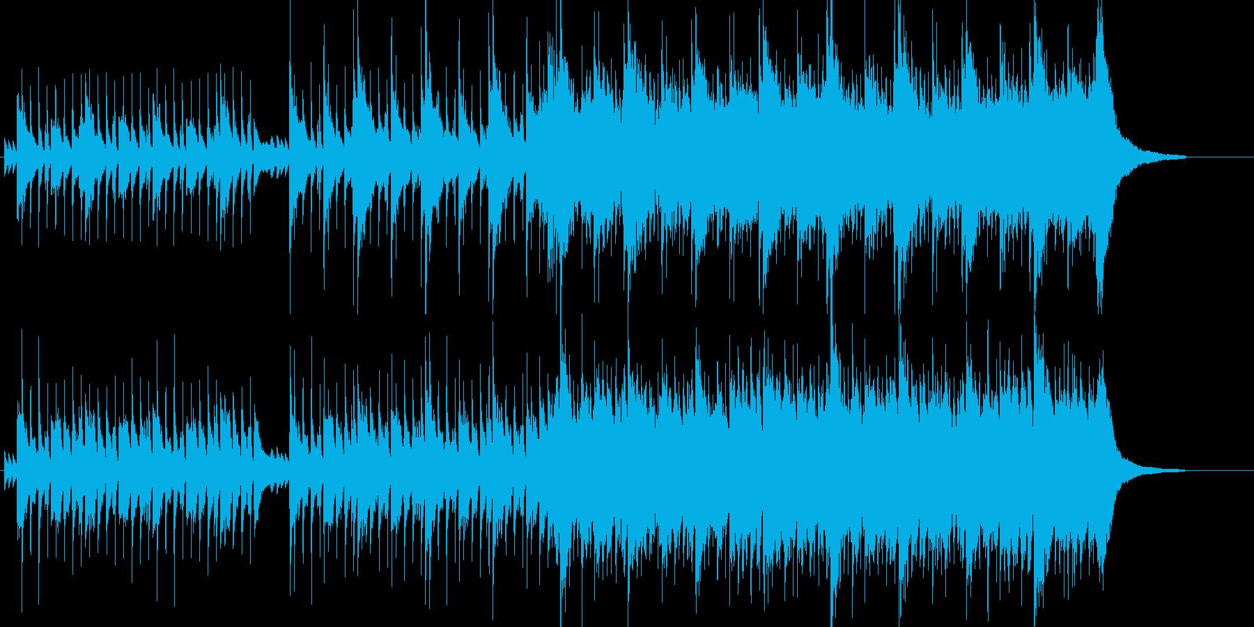 明るく前向きで幸せな雰囲気の曲の再生済みの波形