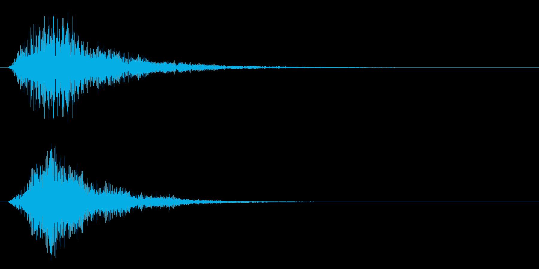 不安の再生済みの波形