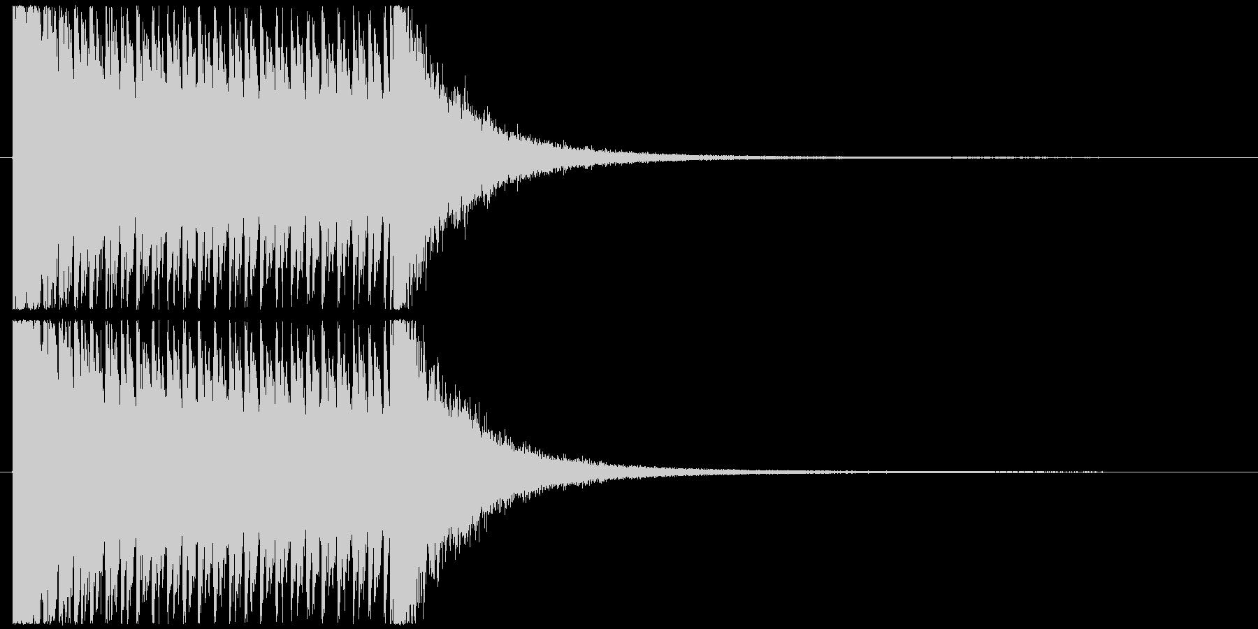3秒ドラムロールの未再生の波形