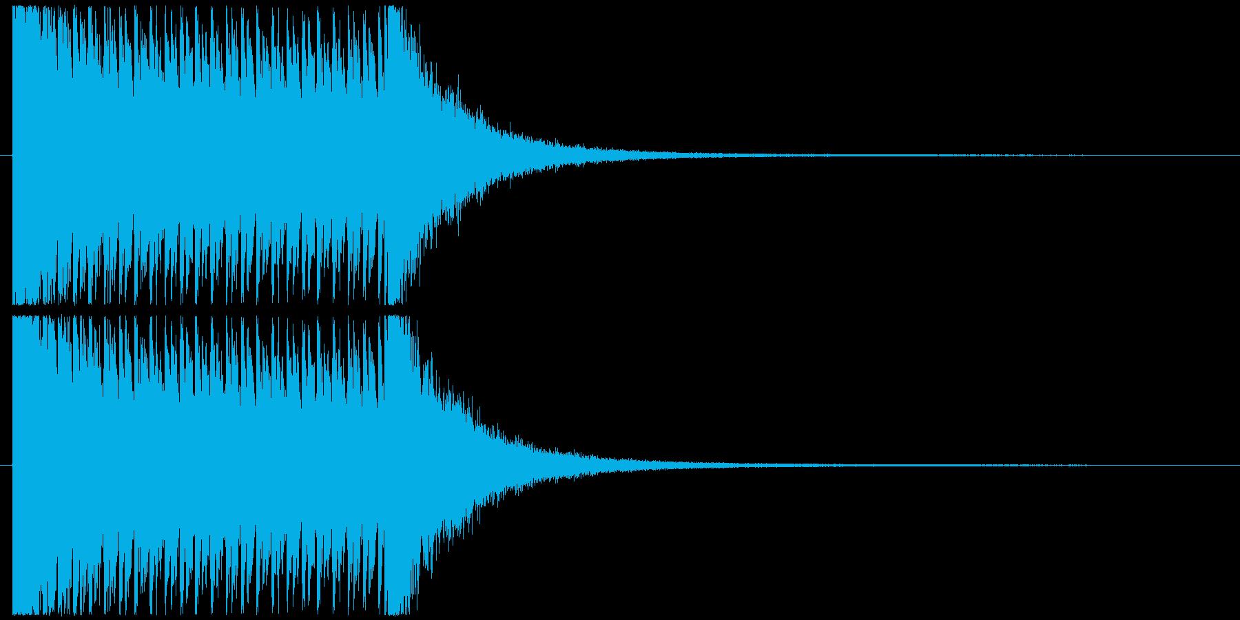 3秒ドラムロールの再生済みの波形