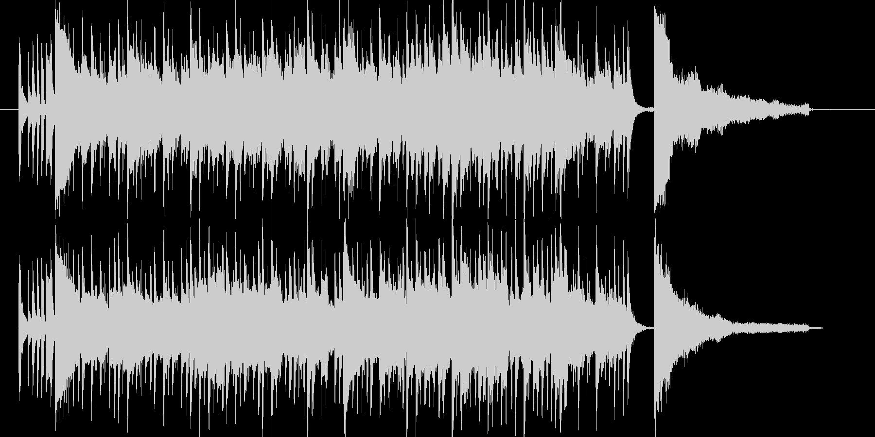 夏っぽい陽気なサウンドロゴの未再生の波形