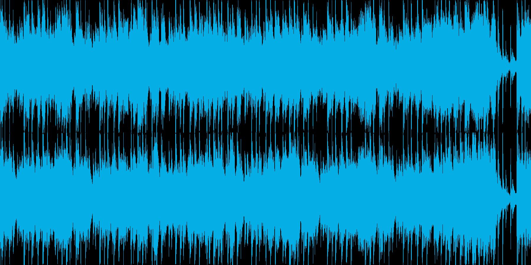 【ループ】明るい、ほのぼのした日常テーマの再生済みの波形