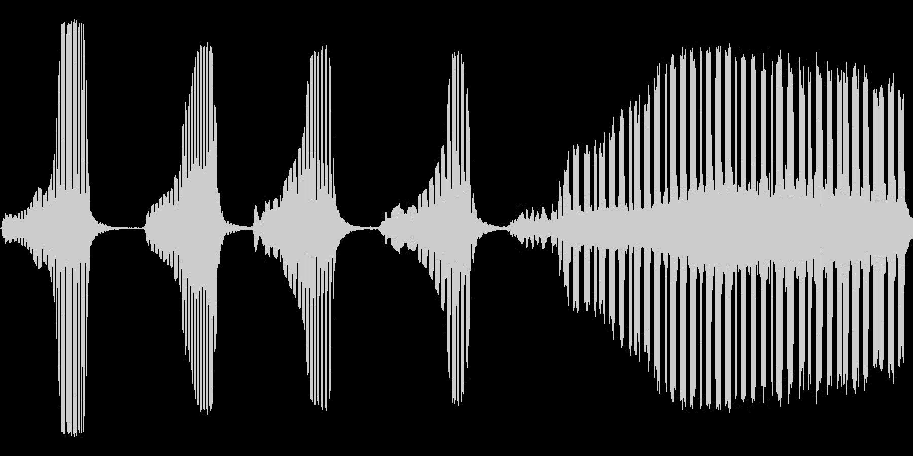 失敗音の未再生の波形