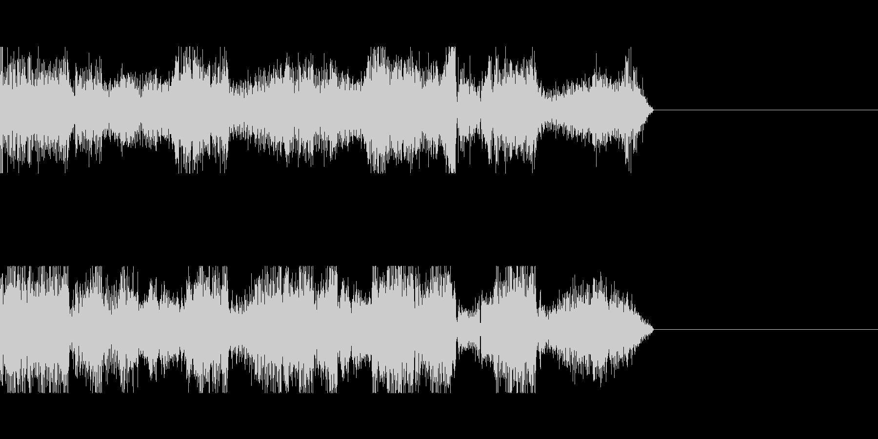電波ノイズ音の未再生の波形