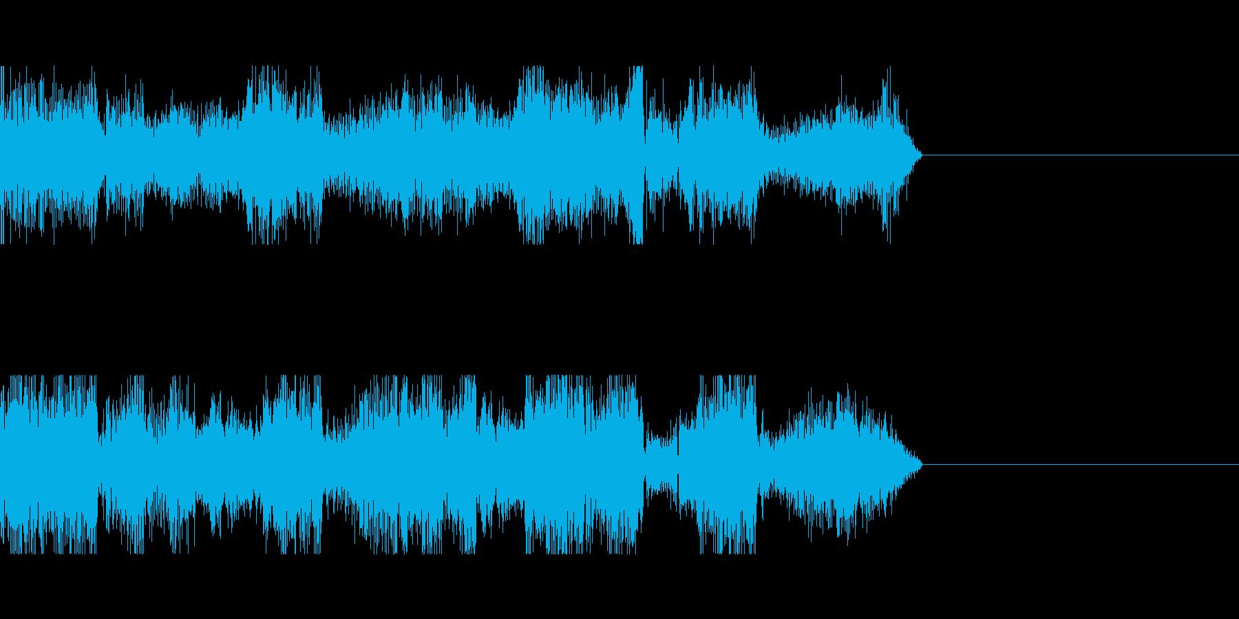 電波ノイズ音の再生済みの波形