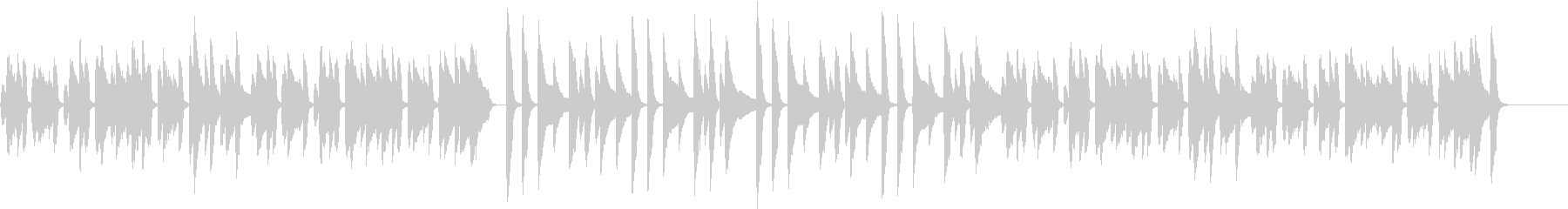 ほのぼの/かわいい/猫/ピアノ/団らんの未再生の波形