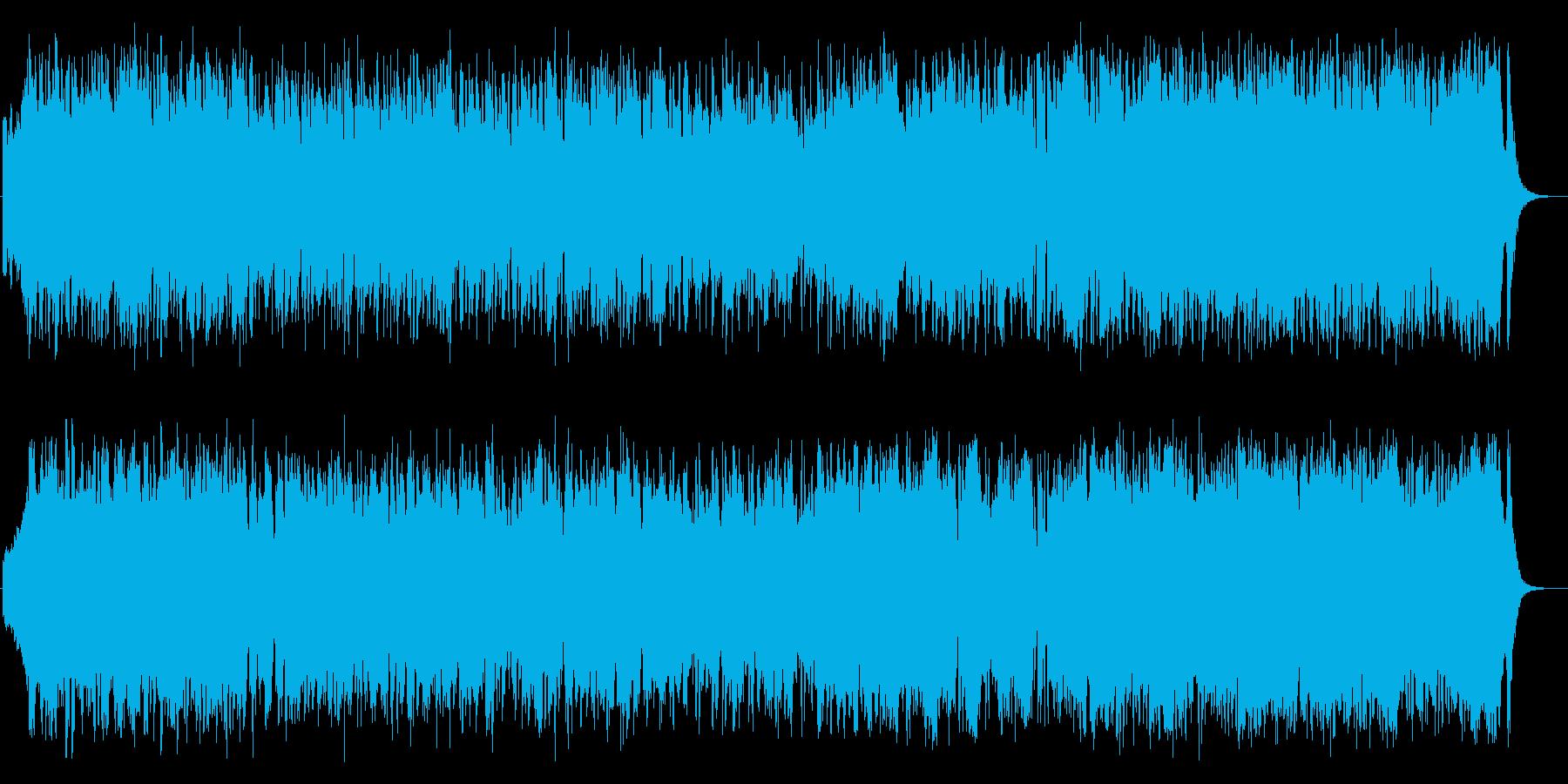 爽やかなニュース番組風オーケストラの再生済みの波形