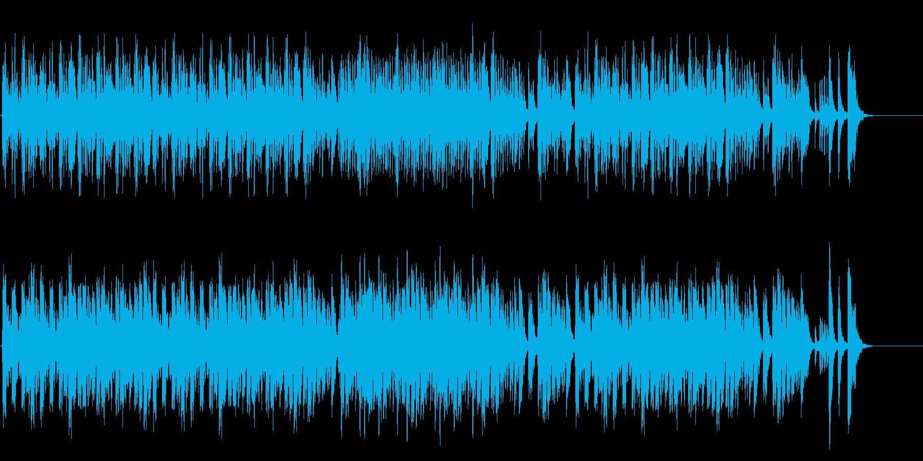 かわいい雰囲気のコミカル曲の再生済みの波形
