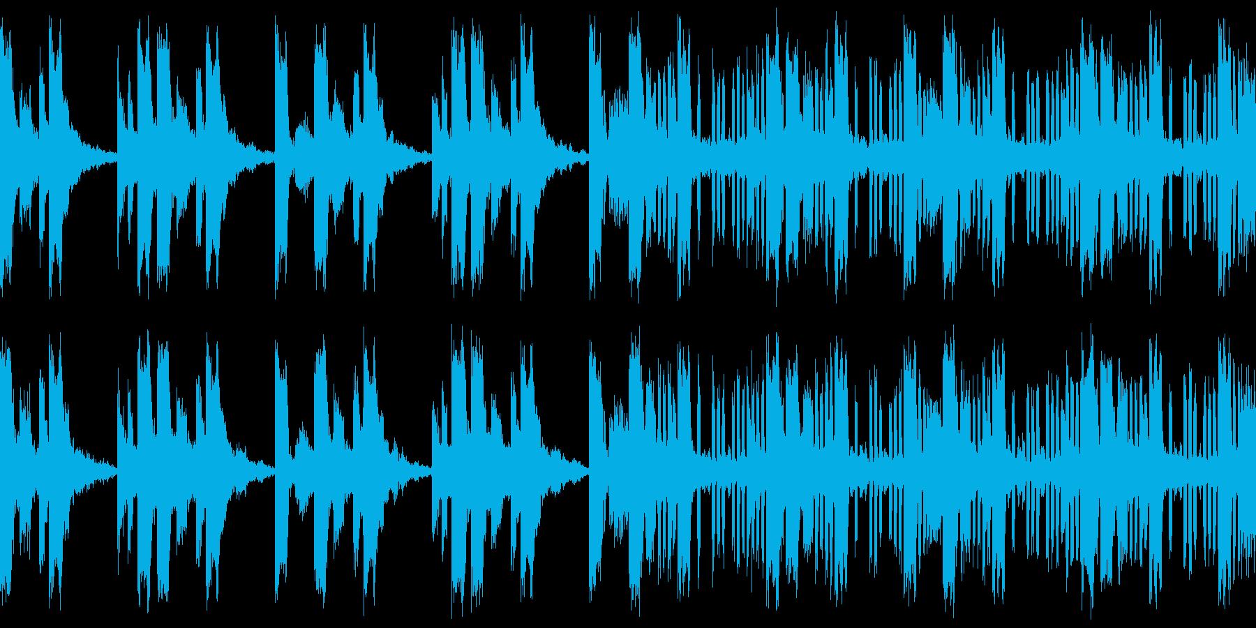 マップ画面・マフィアのビル・ループシンセの再生済みの波形