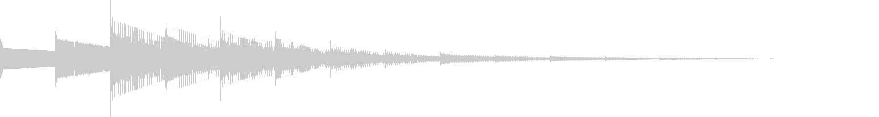 ピロポン(ピコピコ/回復/チャイム/魔法の未再生の波形