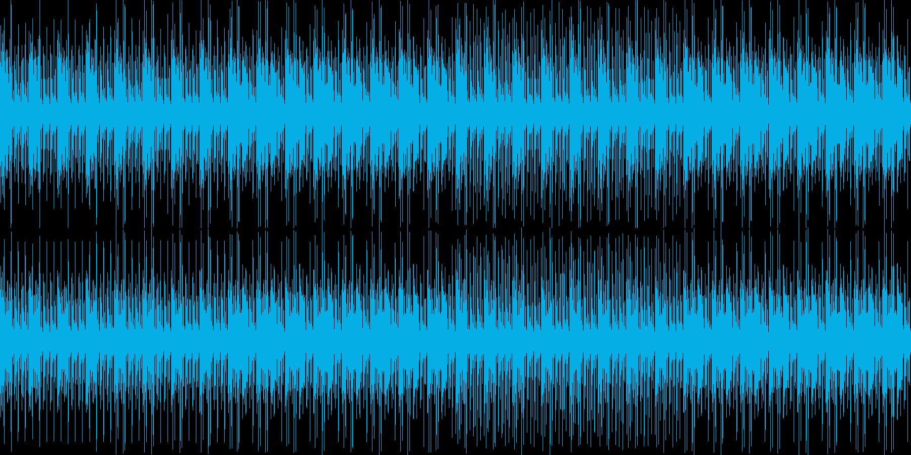 RPGのダンジョン内風BGM(loop)の再生済みの波形