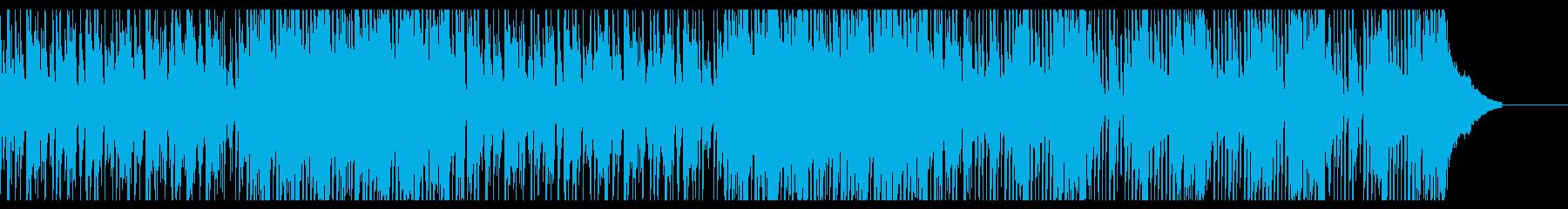 コミカルでファンキーなテンポのよい和風曲の再生済みの波形