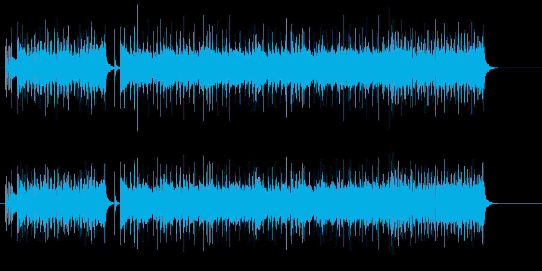 フュージョン・ギター・サウンドの再生済みの波形