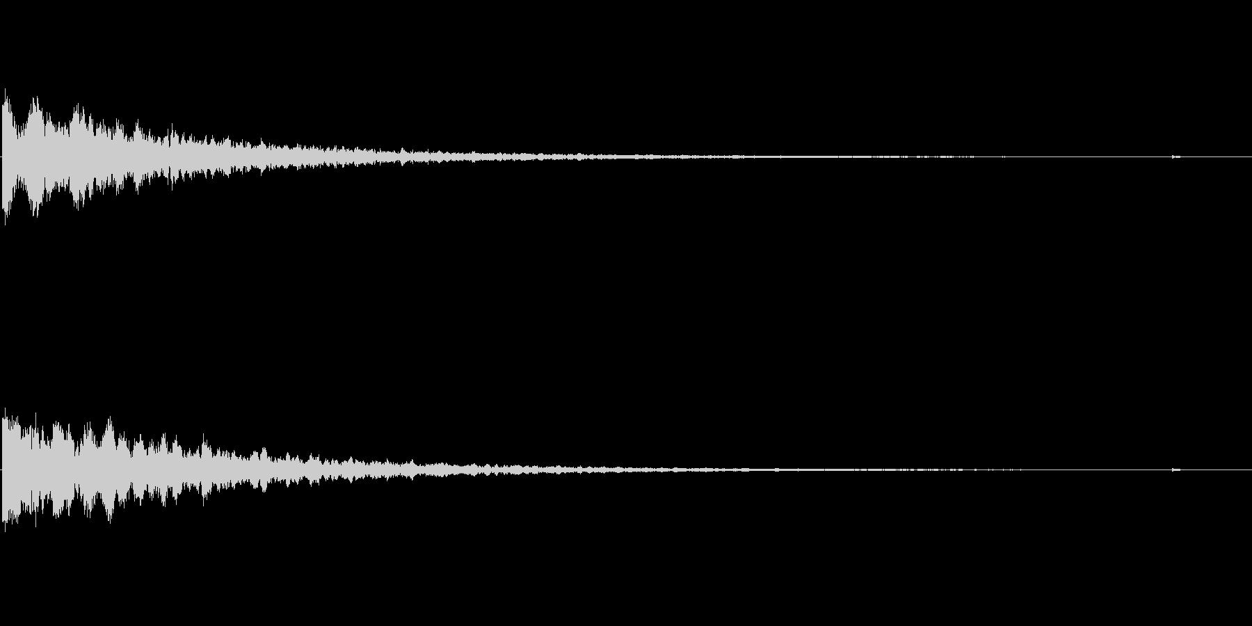 緊迫感を出すキーン音の未再生の波形