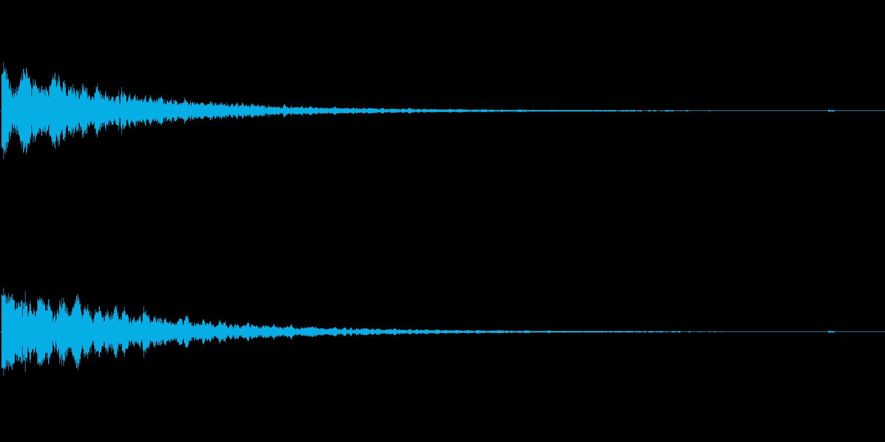 緊迫感を出すキーン音の再生済みの波形
