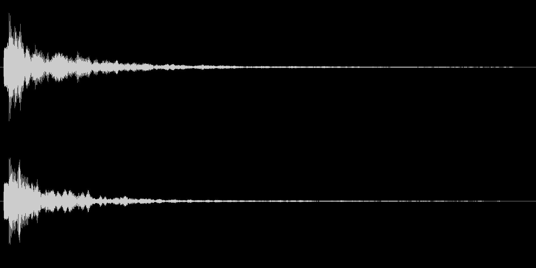 ジャーン テロップ・決定音・タッチ音の未再生の波形