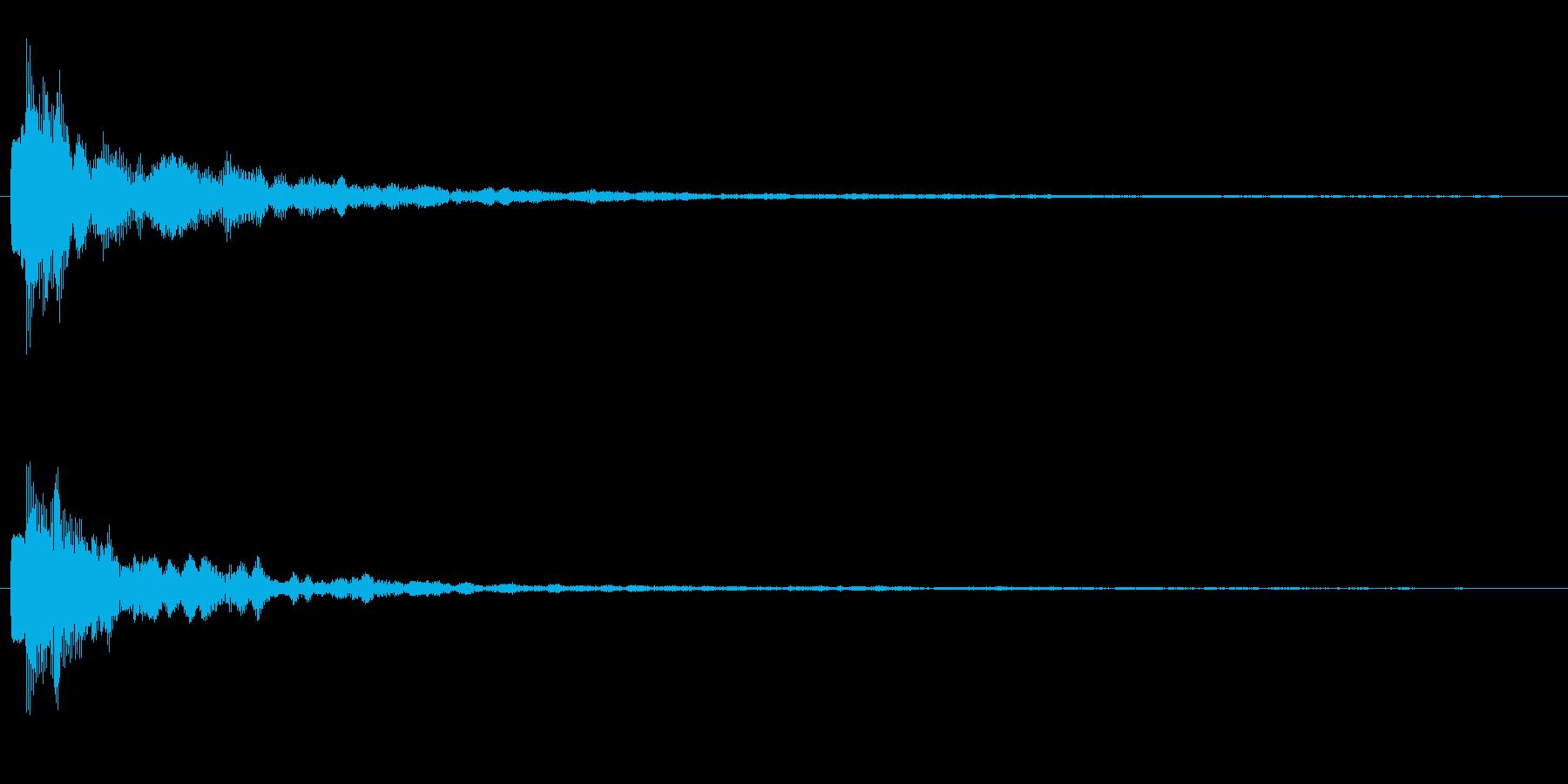 ジャーン テロップ・決定音・タッチ音の再生済みの波形