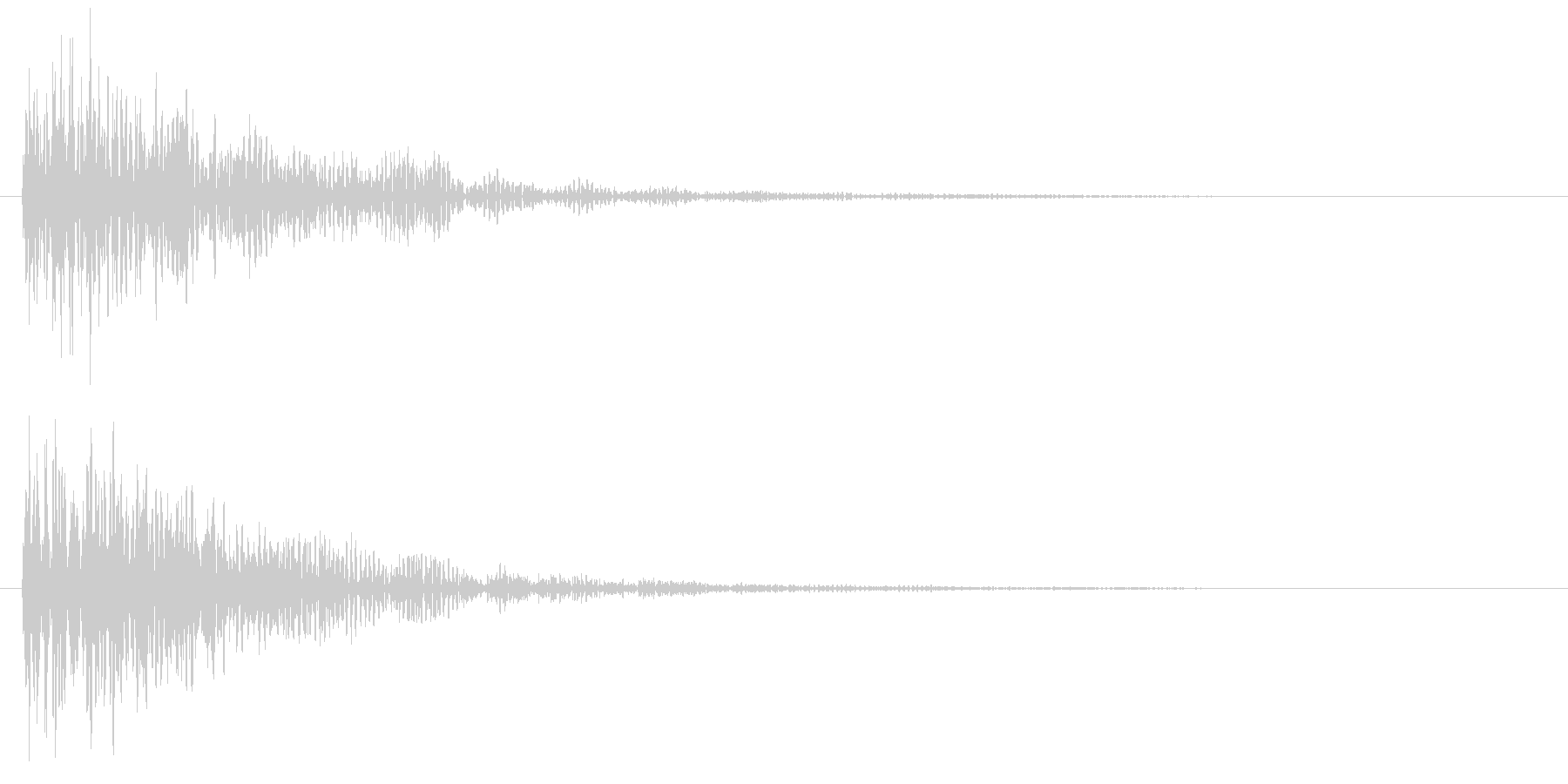 ダーン(低音・映画予告・衝撃音)の未再生の波形