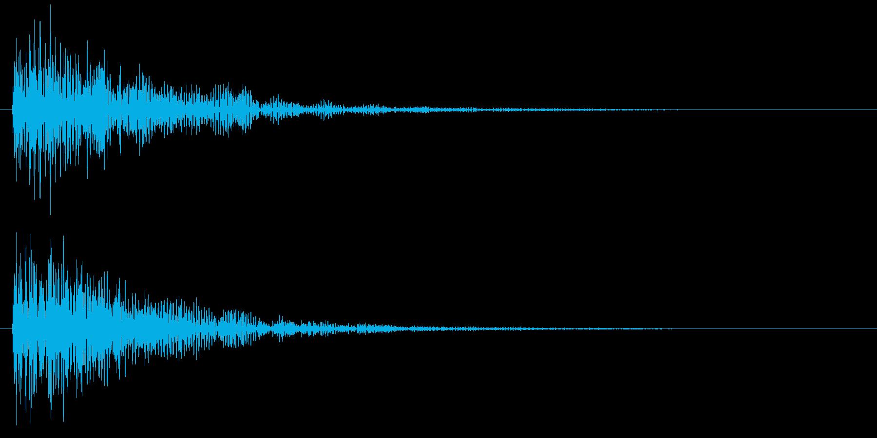 ダーン(低音・映画予告・衝撃音)の再生済みの波形