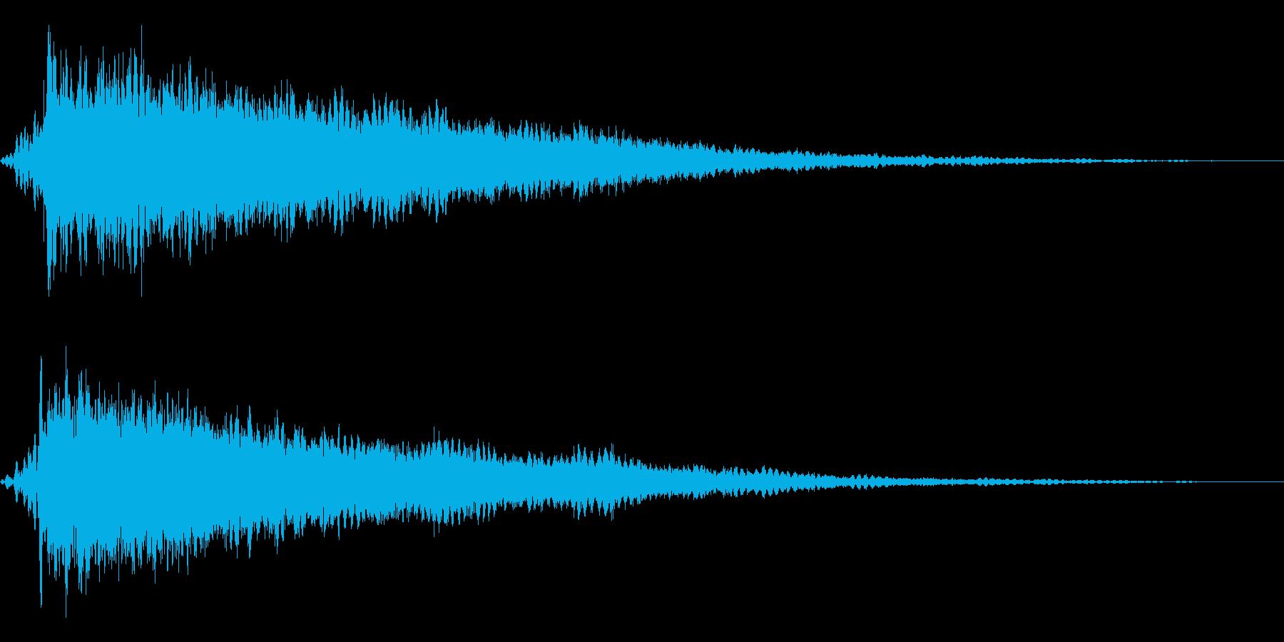 ホラー系アタック音74の再生済みの波形