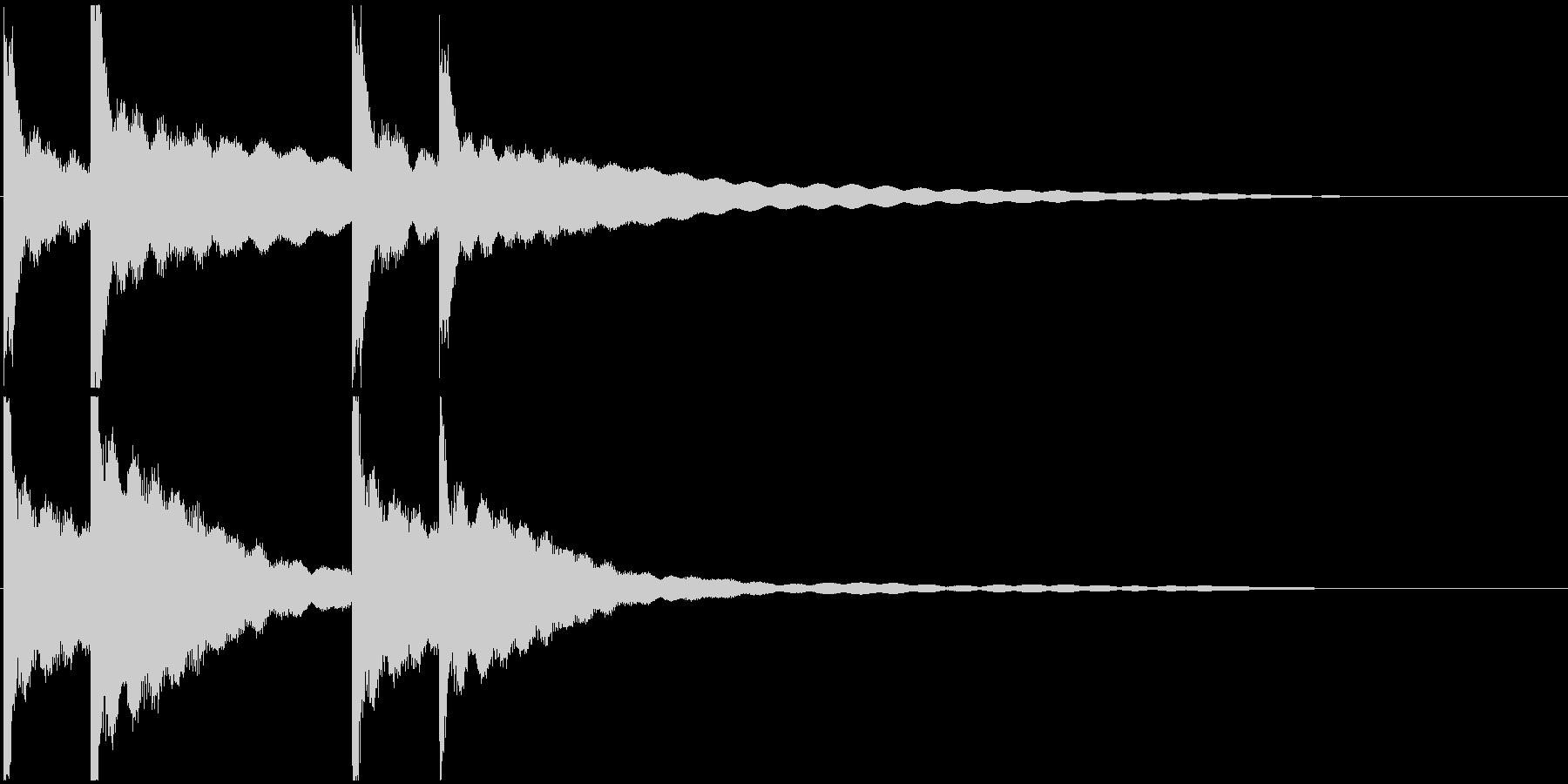 カーンカーン 西洋の鐘の音2の未再生の波形